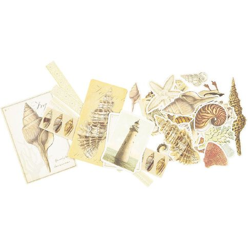 Couture Creations Seaside and Me Ephemera Pack 36 Piece