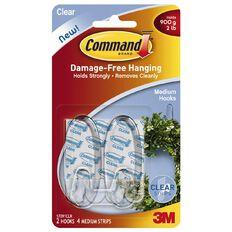 Command Hooks 2 Pack - 4 Strips Clear Medium