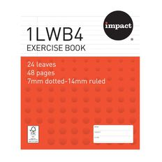 WS Exercise Book 1LWB4 7mm/14mm Ruled 24 Leaf