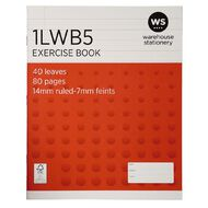 WS Exercise Book 1LWB5 7mm/14mm Ruled 40 Leaf