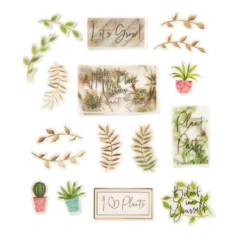 Uniti Plant Lady Vellum Die Cut Shapes