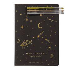 Kookie Novelty20 Space Notebook With Pen Set Black