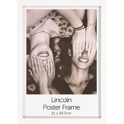 Uniti Box Poster Frame White A4