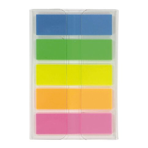 Impact Fluro Sticky Flags 12mm x 44mm 20 Sheet 5 Pack