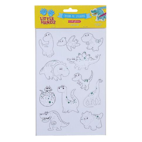 Little Hands Colour Me Glitter Stickers Assorted