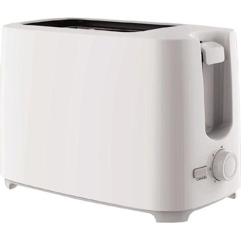 Living & Co 2 Slice Toaster White
