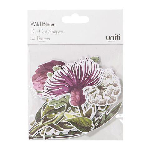 Uniti Wild Bloom Cardstock Die Cuts 54 Pieces