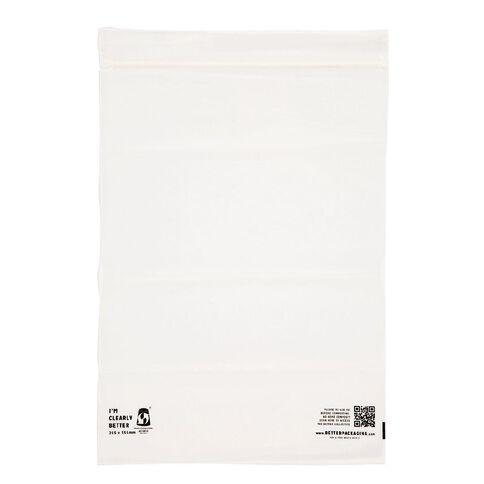 Compostable Ziplock Bags 255x355mm 25 Pack