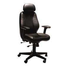 Buro Seating Everest Leather & Mesh Chair Black