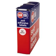 Quik Stik Labels Dots Mc14 1200 Pack White