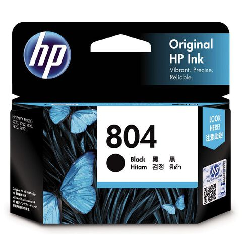 HP Ink Cartridge 804 Black (200 Pages)