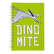 Kookie Chomp Dinomite Hardcover Spiral Notebook Green A5