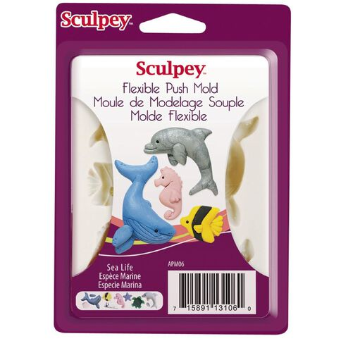 Sculpey Push Mold Sea Life