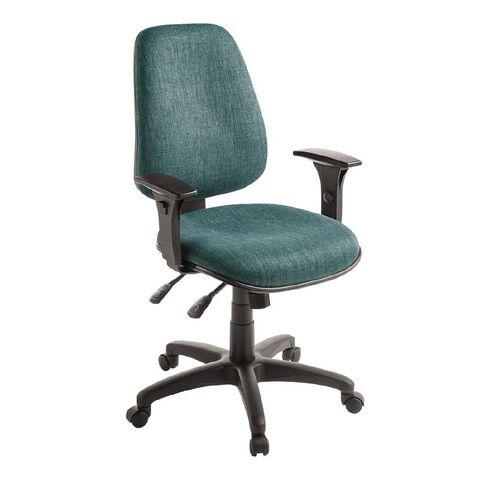 Eden Chorus 3 Lever Highback Ergonomic Chair with Arms Atlantic