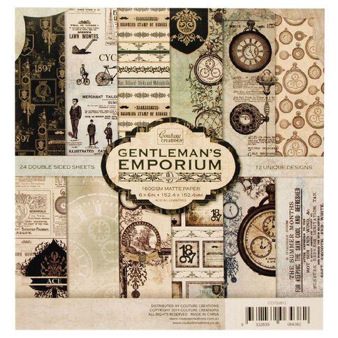 Couture Creations Gentlemans Emporium Paper Pad