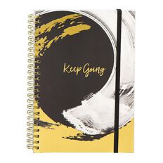 Uniti F&F Soft Spiral Notebook Foil Keep Going Black A5