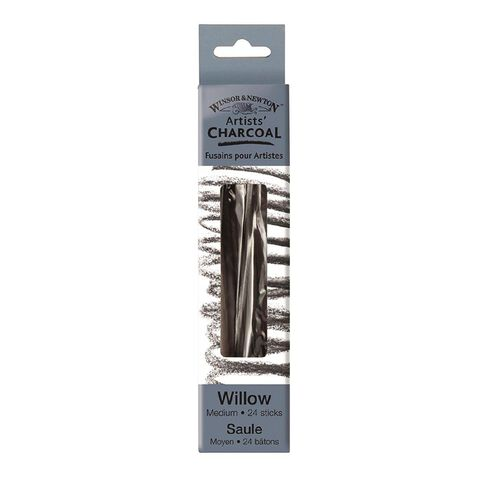 Winsor & Newton Medium Charcoal Sticks 3 Pack