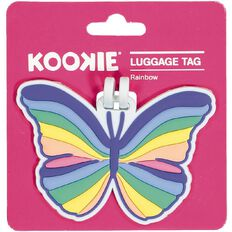 Kookie Silicone Luggage Tag Butterfly 10cm x 7cm
