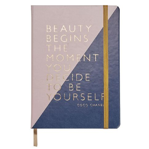 Impact Notebook PU Beauty Begins with Elastic A5