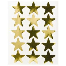 Quik Stik Labels Labels Stars Large Gold