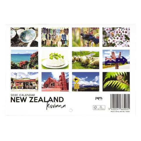2020 Calendar New Zealand Kiwiana A5