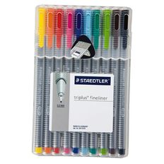 Staedtler Triplus Fineliner Pen Wallet Of 10 Mixed Assortment