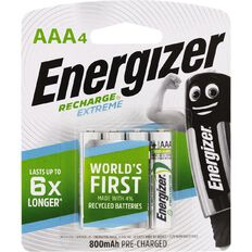 Energizer Rechargeable Batteries NiMH AAA 4 Pack