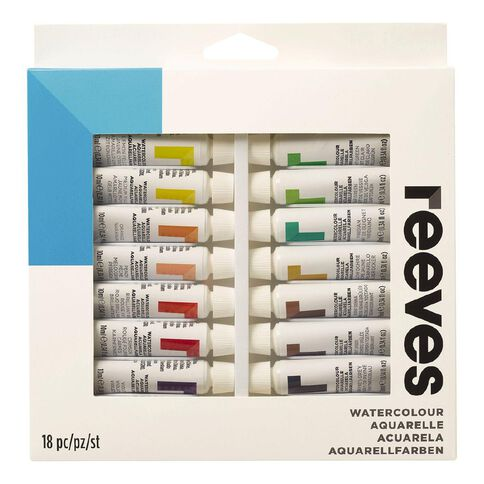 Reeves Watercolour Set 18 Tubes Multi-Coloured