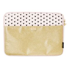 Minnie Mouse Notebook Sleeve 14in Gold