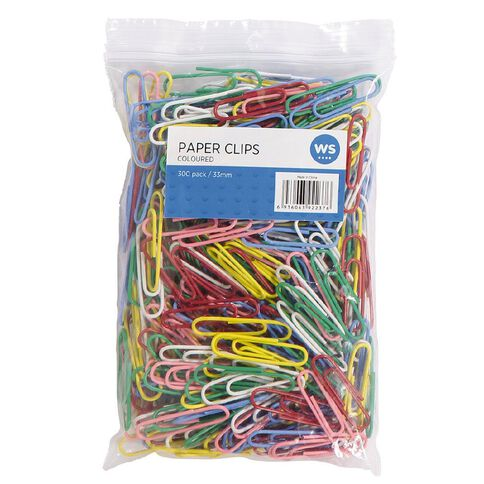 Impact Paperclips 33mm 300 Pack Assorted
