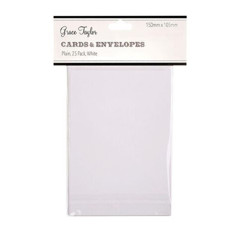 Grace Taylor Cards and Envelopes 15x10 25 Pack White