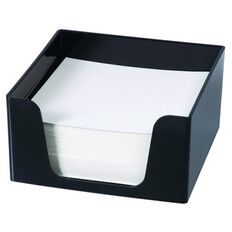 Esselte Sws Plastic Memo Cube & 500 Sheets Black