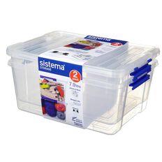 Sistema 7.9L Storage Box 2 Pack Clear