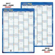 Writeraze 2017/18 18 Month Planner Qc2 (500 X 700Mm) Blue