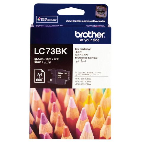 Brother Ink LC73 Black (600 Pages)