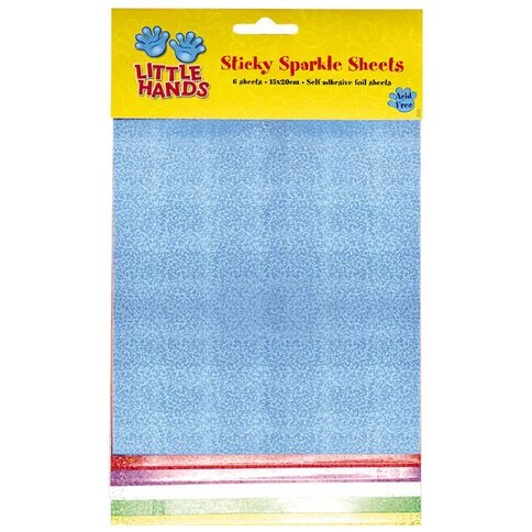 Little Hands Sticky Sparkle Sheets Assorted