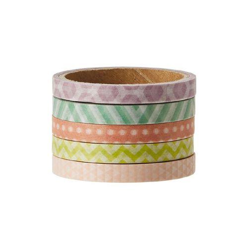 Uniti Washi Tape Thin 5 Pack Pastels