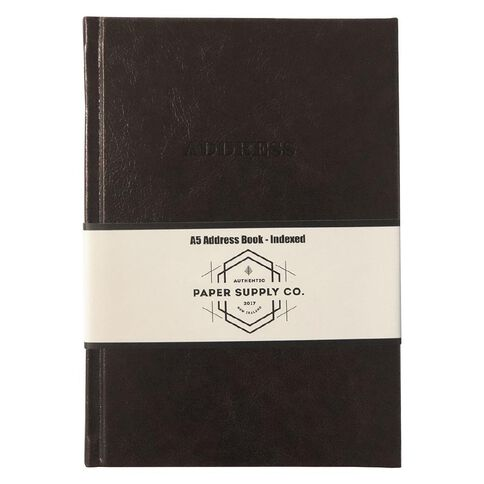 Paper Co Vintage Address Book Brown A5