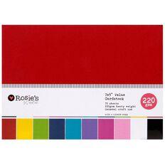 Rosie's Studio Value Cardstock Smooth 220g Brights 5in x 7in 70 Sheet
