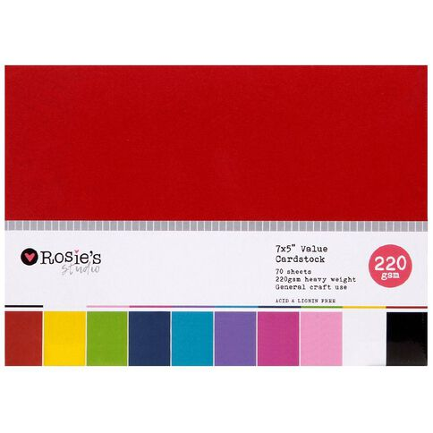 Rosie's Studio Value Cardstock Smooth 220g Brights 5in x 7in 70 Sheet