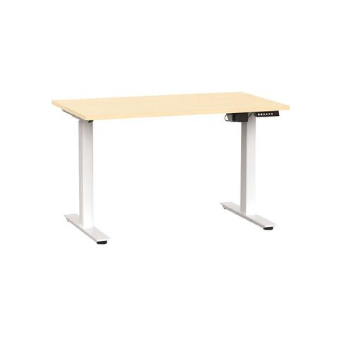 Agile Electric Height Adjustable Desk 1200 Nordic Maple/White