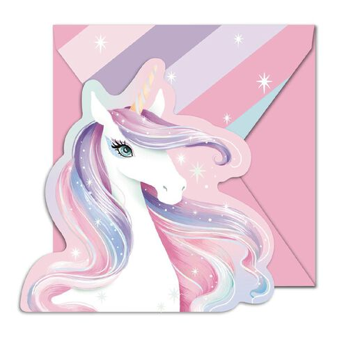 Artwrap Unicorn Padded Invitations 145mm x 195mm 20 Pack