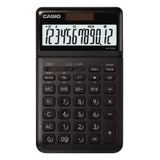Casio JW200SCBK Desktop 12 Digit Calculator Stylish Black