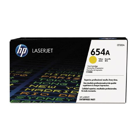 HP 654A Yellow Contract LaserJet Toner Cartridge (15000 Pages)