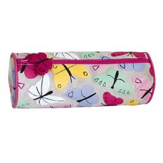 Pencil Case Simple Butterfly Grey
