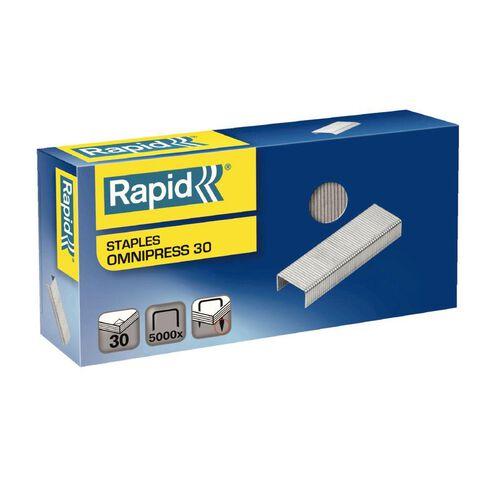 Rapid Staples Omnipress 30 Sheet 6mm 5000 Box