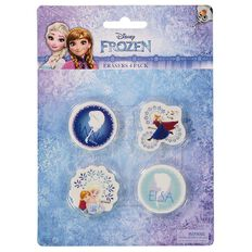 Disney Frozen 4 Pack Erasers