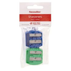 Sharpener Plastic Assorted 2 Pack