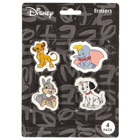 Disney Classics Erasers 4 Pack