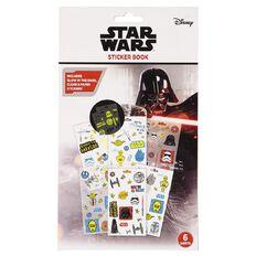 Star Wars Sticker Book 6 Sheet with Glow Clear & Paper Sticker